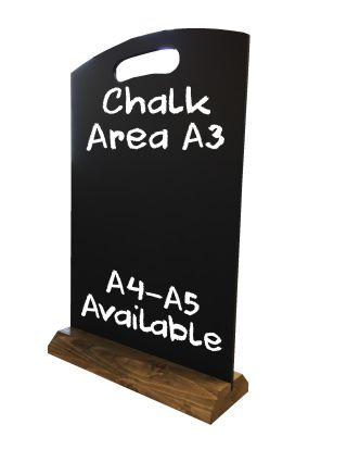 A3 table top chalkboard