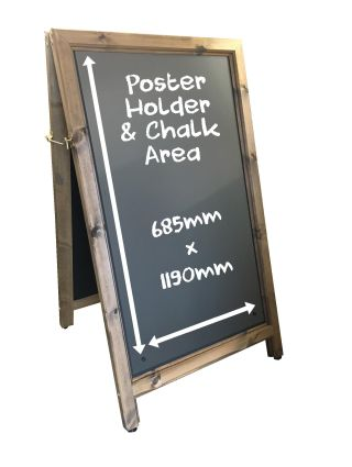 Large Aboard Chalkboard Poster Holder