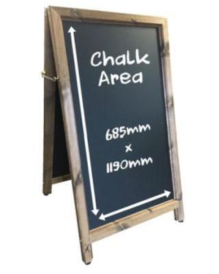 Large Aboard Chalkboard pavement sign