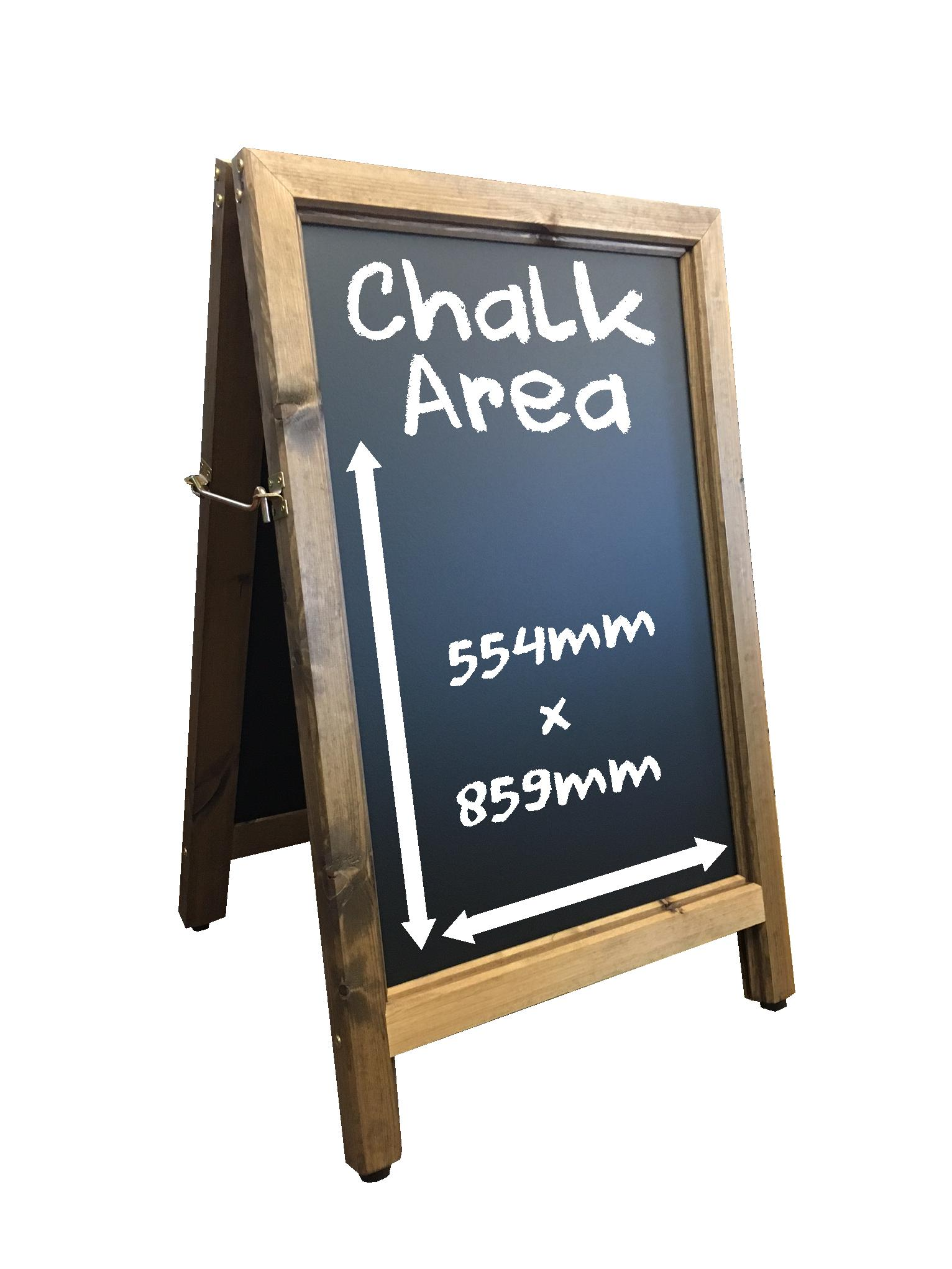 Aboard Chalkboard Pavement Sign