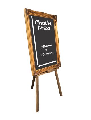 Easel Gold Frame Chalkboard | Patterson Graphics