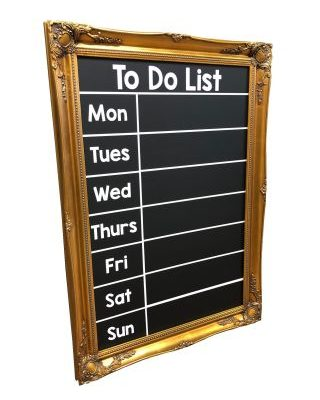 Antique Gold Frame Chalkboard To Do List