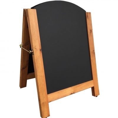 Arched Top Aboard Chalkboard