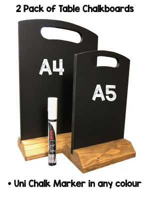 Table Top Chalkboards 2 pack