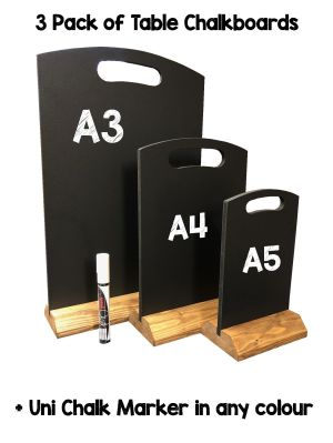 table top chalkboards 3 pack