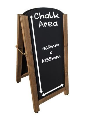Tall Arched Top Aboard Chalkboard